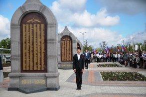 В микрорайоне АЦКК появилась Аллея воинской славы