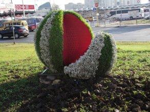 В Астрахани появился ещё один зеленый арт-объект